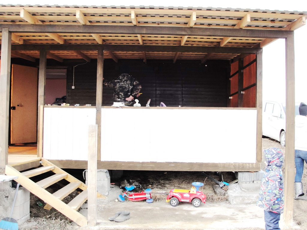 Мягкие окна на веранду дачного домика
