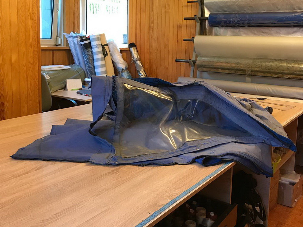 Изготовление ходового тента по шаблону старого