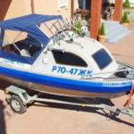 Ходовой тента на алюминиевую лодку Абрис 470