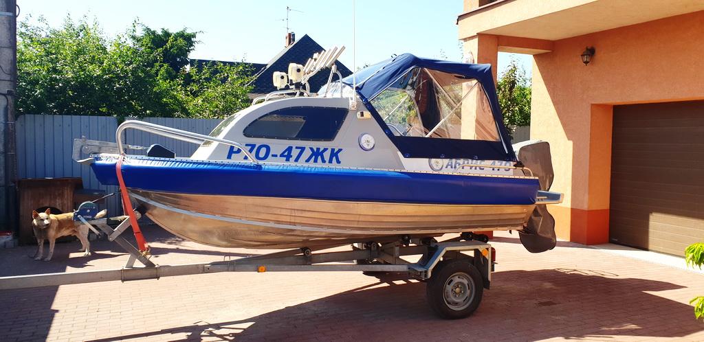 Восстановление ходового тента на лодку Абрис 470