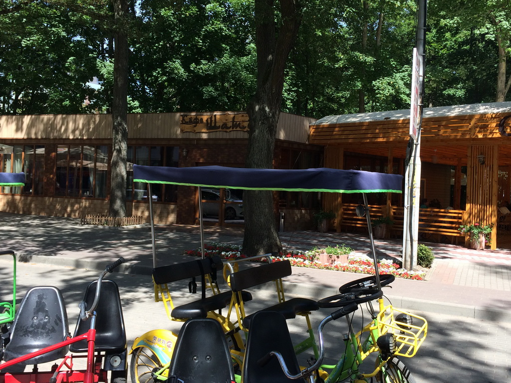 Теневой тент для прогулочного велосипеда