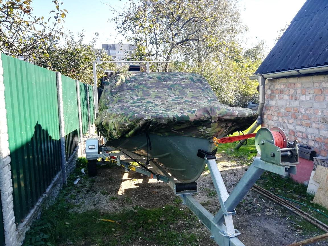 Стояночный тент-чехол на лодку «Казанка-М»
