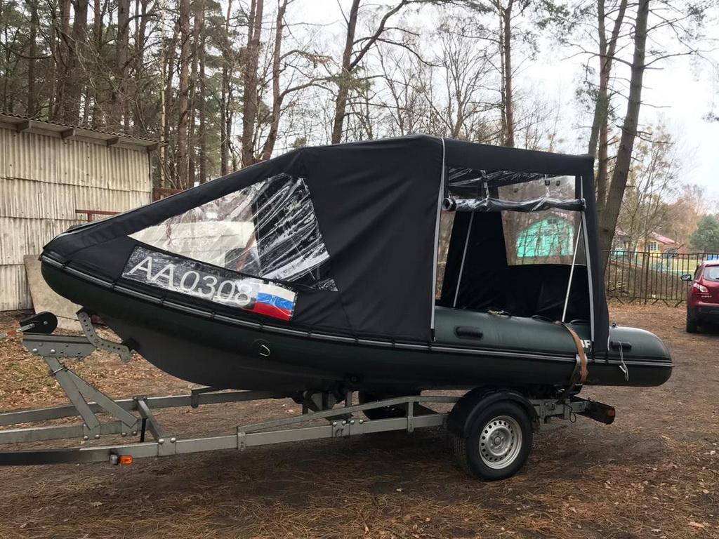 Ходовой тент на лодку Grand 550