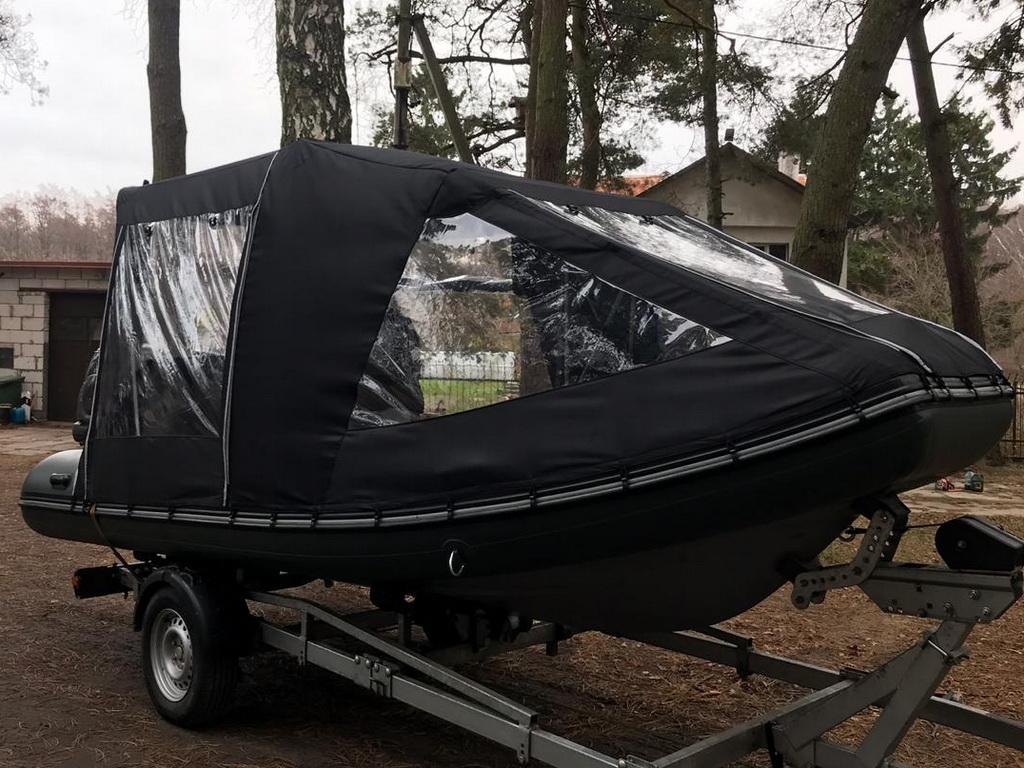 Изготовление ходового тента на лодку Grand 550