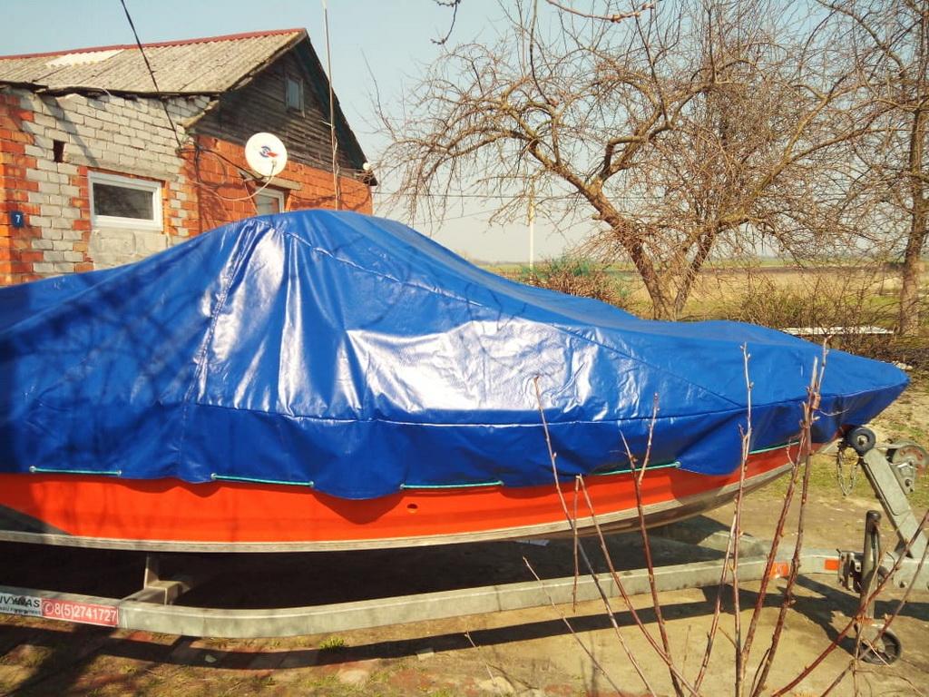 Тент стояночный на лодку «Волжанка-510»