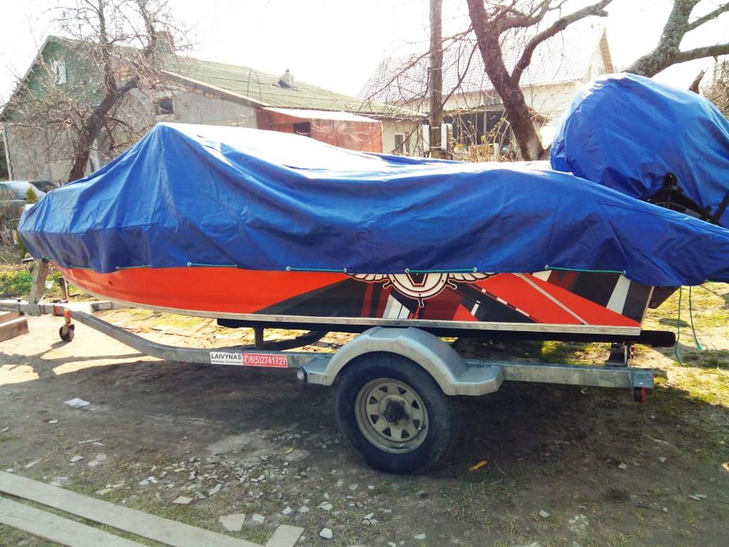 Тент-чехол на лодку «Волжанка-510»