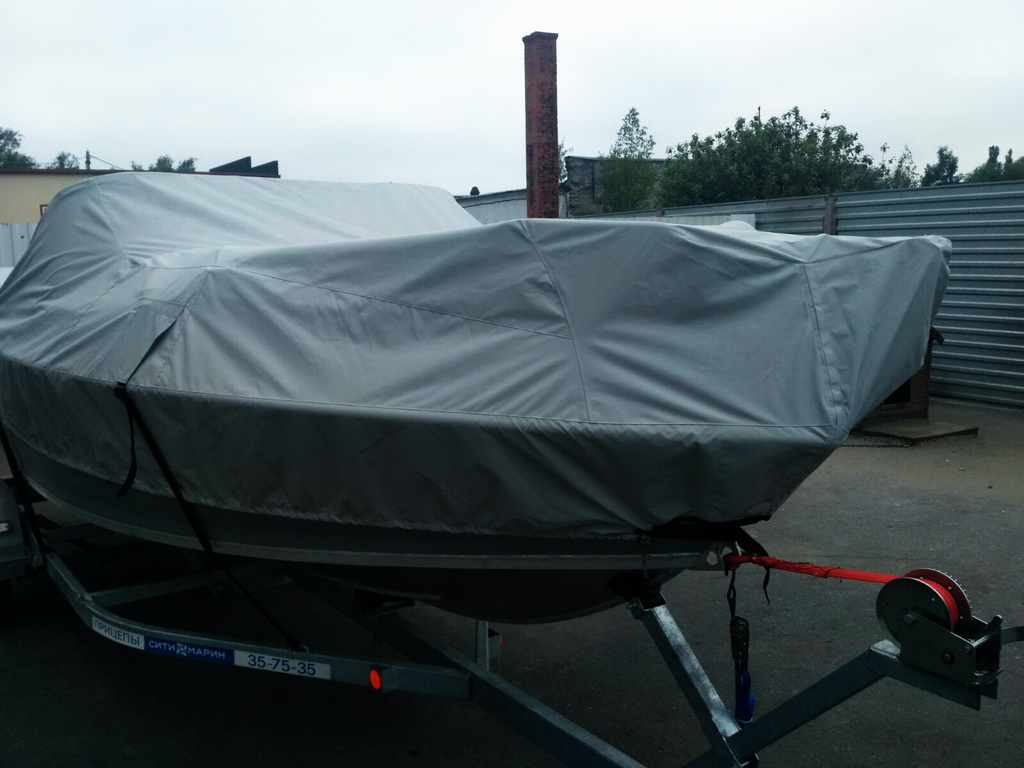 Тент-чехол на лодку «Волжанка-530»