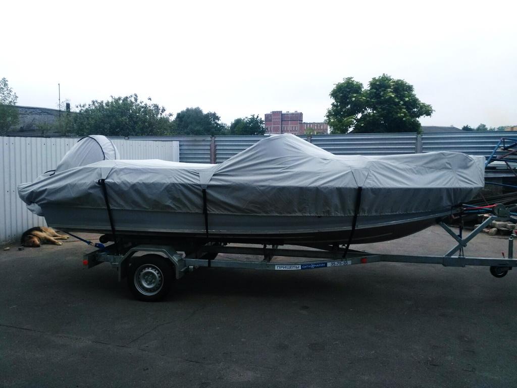 Тент транспортировочный на лодку «Волжанка-530»